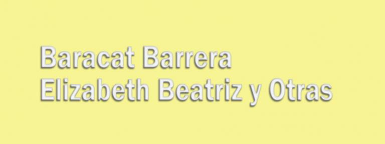 Baracat Barrera Elizabeth Beatriz y Otras